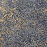 WM0190380801 Wallpaper rustic navy blue gray gold Plain faux Concrete plaster