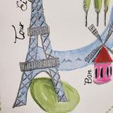 WM0169610501 Fun Paris Fashion Glitter White Girl Travel Wallpaper