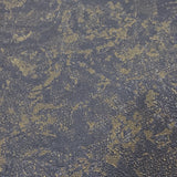 8541-13 Dark Green Gray gold metallic Plain textured Faux plaster Wallpaper