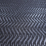 I243 Natural Mica Vermiculite charcoal Gray silver metallic wave lines Wallpaper - wallcoveringsmart