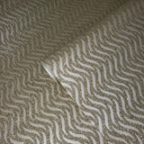 I241 Natural Mica Vermiculite taupe brass metallic wave lines Wallpaper