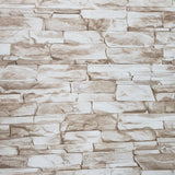 C772-01 Wallpaper textured brown white modern faux realistic stone 3D