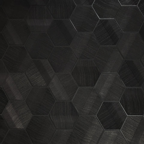 Z44801 Lamborghini Hexagon Feature Black textured Wallpaper 3D Geometric
