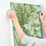 AT7070 Banana Leaf Sure Strip Wallpaper