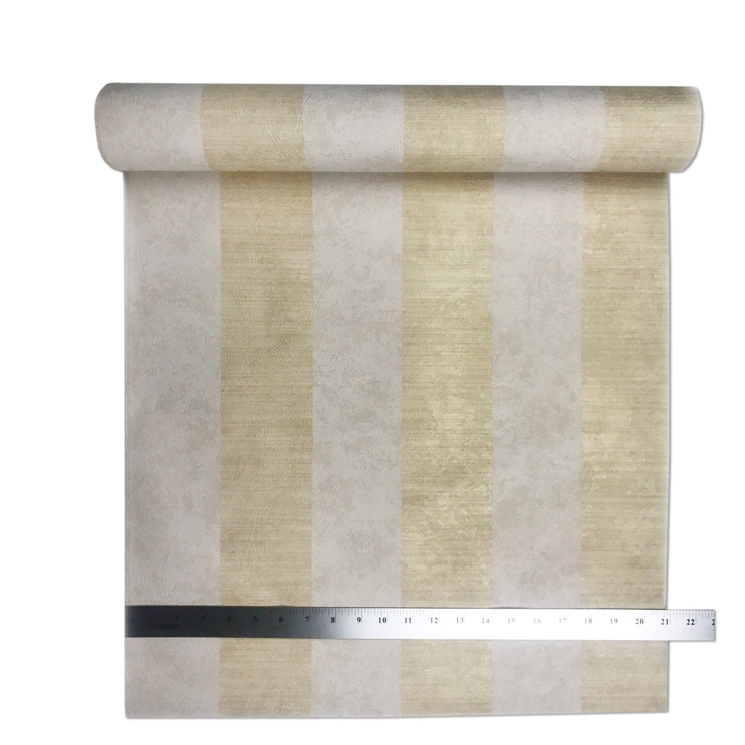 Portofino Wallpaper Beige Cream Yellow Stripes Striped Plaster Textured Roll 3D