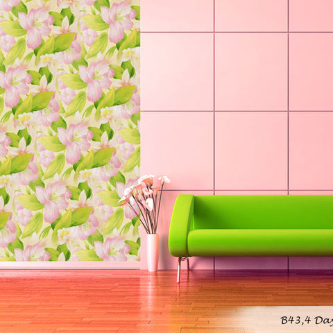 Floral Tropical Bright Flower Wallpaper