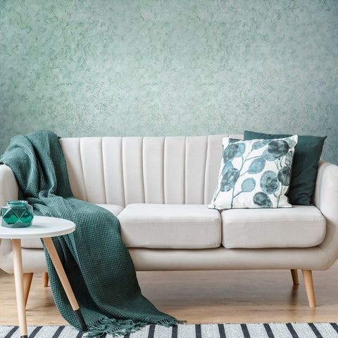 V509-04 Mint Gold Marble Textured Wallpaper