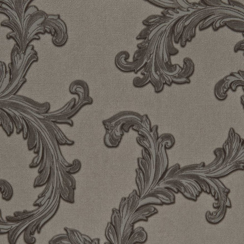76062 Off White Victorian Woven Texture Wallpaper