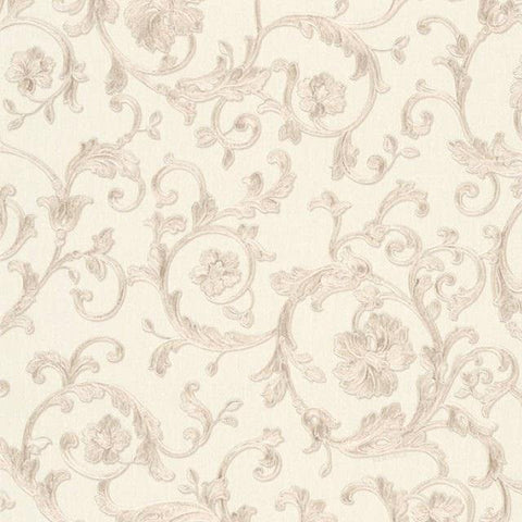 34326-3 Butterfly Barocco Beige Off-white Wallpaper - wallcoveringsmart