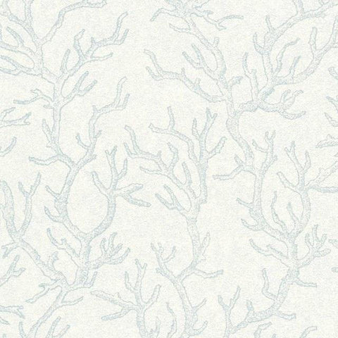 34497-2 Les Etoiles De La Mer Light Blue White Wallpaper - wallcoveringsmart