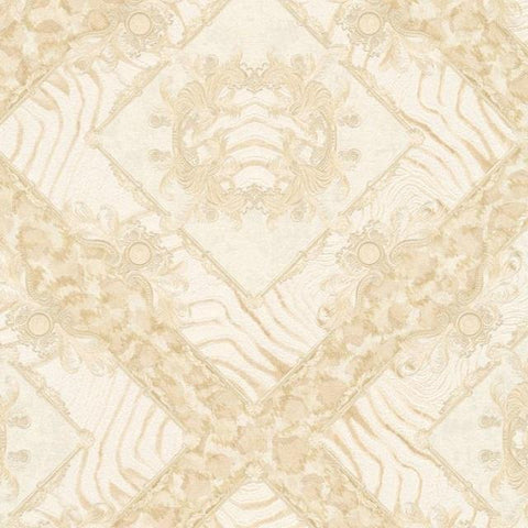 34904-4 Vasmara Beige Cream Off-white Wallpaper - wallcoveringsmart