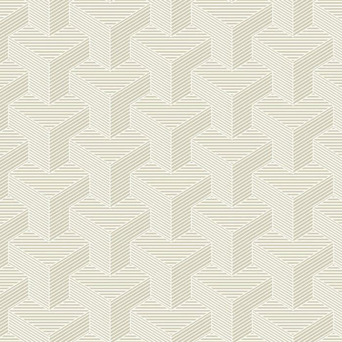 SW7462 Hexahedron Sure Strip Wallpaper