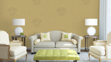32950-3 Design Panel Medusa Gold Wallpaper - wallcoveringsmart