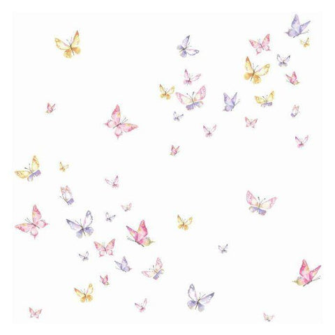KI0526 Watercolor Butterflies Prepasted SureStrip Wallpaper