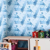 DI0925 York Disney and Pixar Toy Story 4 Retro Unpasted Blue Wallpaper
