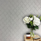 4502-10 Snake Skin White Diamond Pearl Wallpaper
