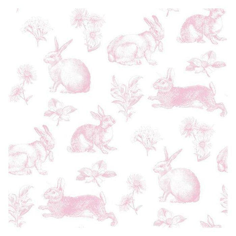 KI0582 Bunny Toile Prepasted SureStrip Wallpaper - wallcoveringsmart