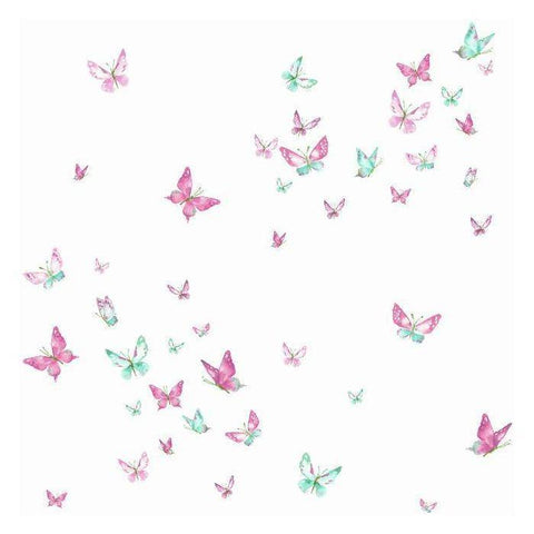 KI0523 Watercolor Butterflies Prepasted SureStrip Wallpaper - wallcoveringsmart