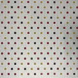 5601-12 Modern White Red Gold Square Wallpaper