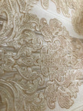 8102-02 Paper Wallpaper vintage damask cream pearl textured 3D