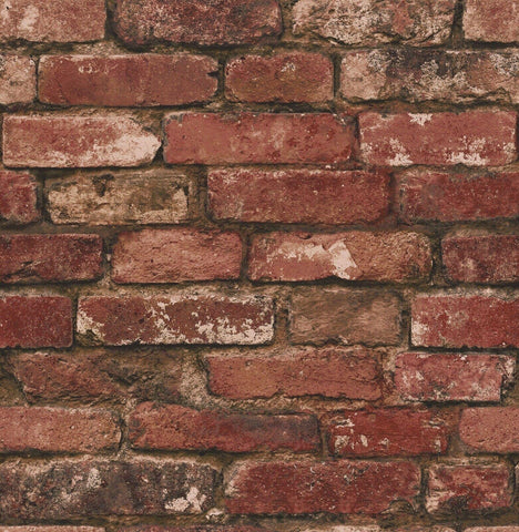 WM3128501 Red brown orange faux rustic brick 3D Loft Wallpaper