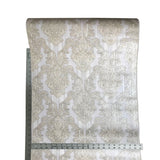 8102-01 Paper Wallpaper vintage damask beige pearl textured 3D