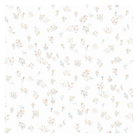 KI0519 Watercolor Floral Bouquet Prepasted SureStrip Wallpaper - wallcoveringsmart