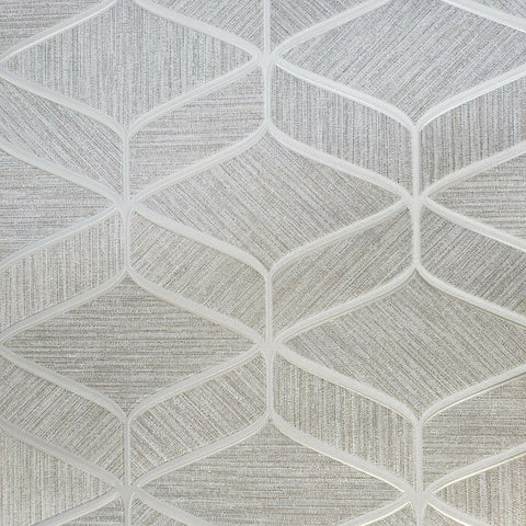 Z63031 Zambaiti Gray silver bronze metallic faux fabric textured geometric Wallpaper