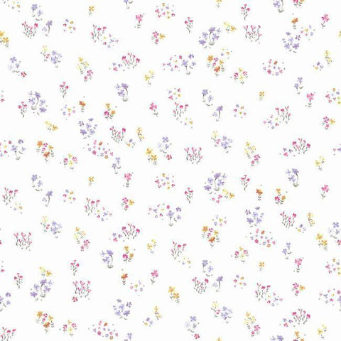 KI0521 Watercolor Floral Bouquet Prepasted SureStrip Wallpaper - wallcoveringsmart