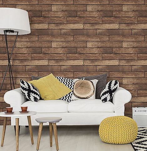 WEATHERED BROWN NAILHEAD PLANK FD23277 Wallpaper