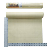 75804 Yellow Cream Plain faux grasscloth Textured Wallpaper