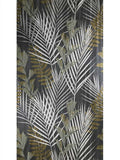 255006 Floral Black Tropic palm Leaves Wallpaper