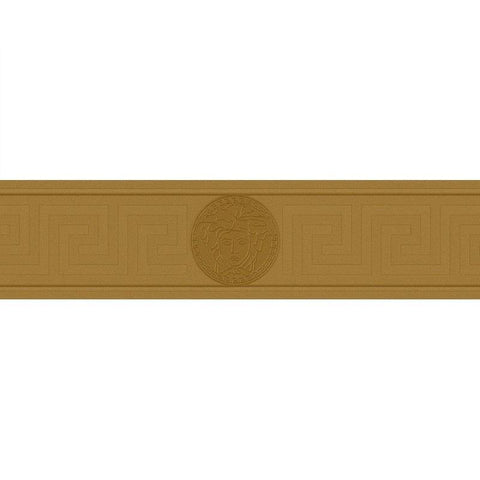 93522-2 Medusa Greek Key Gold Border