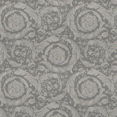 93583-6 Versace Barocco Flowers Taupe Textured Nonwoven Wallpaper