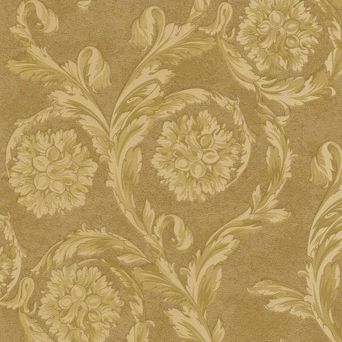 93588-3 Gold Barocco Floral Wallpaper