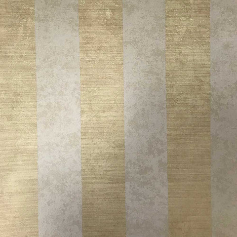 75909 Samarkanda Striped Yellow Cream Wallpaper