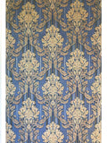 8102-03 paper Wallpaper Vintage damask navy blue beige textured