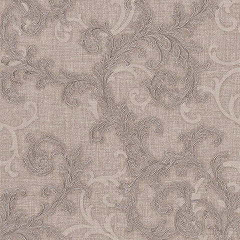 96231-1 Beige Taupe Silver Wallpaper
