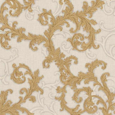 96231-4 Creаm Gold Off-white Wallpaper