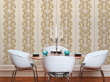 96232-4 Creаm Gold Off-white Wallpaper - wallcoveringsmart