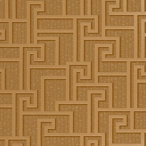 96236-1 Gold Metallic Greek Key Textured Versace Wallpaper - wallcoveringsmart