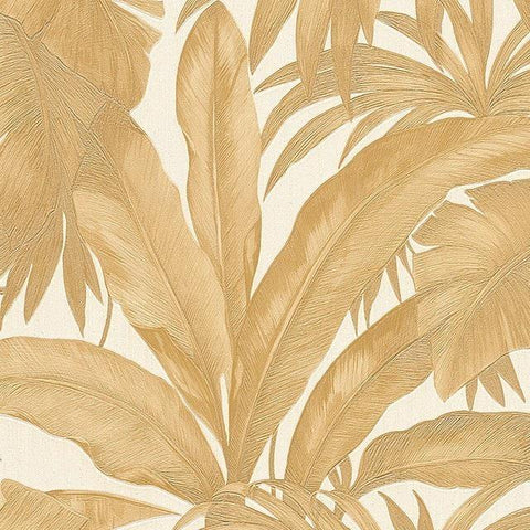 96240-4 Gold Off-white Versace Textured Embossed Wallpaper