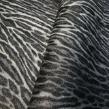 255059 Portofino Tiger faux animal skin fur black silver Wallpaper