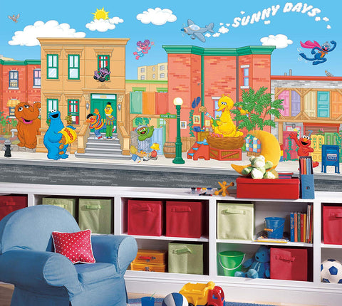 Elmo Sesame Street Wallpaper Wall Mural