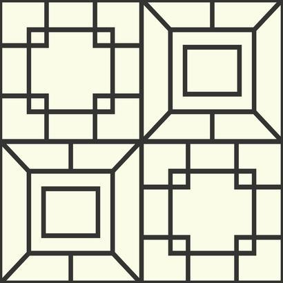 AF1967 White Black Theorem Geometric Wallpaper