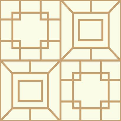 AF1970 Cream Gold Theorem Tile Wallpaper