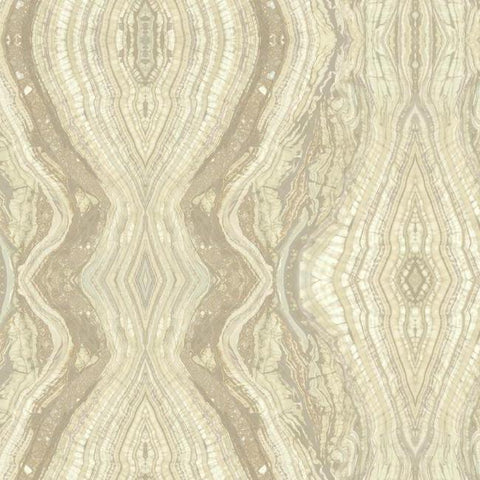 BH8399 York Kaleidoscope Yellow Stone Metallic Wallpaper