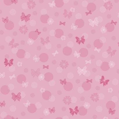 DY0178 Pink Minnie Mouse Bow Kids Disney Wallpaper