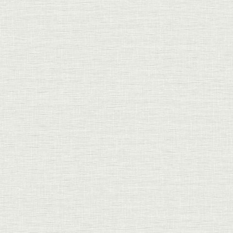 FH4059 York Silk Linen Weave Rustic Farmhouse Off White Plain Wallpaper