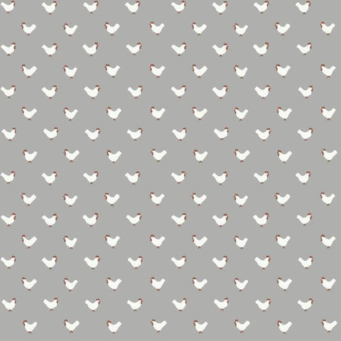 FH4073 York Roost Animal Rustic Farmhouse Gray Wallpaper